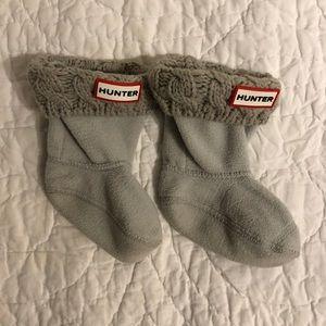 Hunter Cable Knit Cuff Fleece Boot Socks